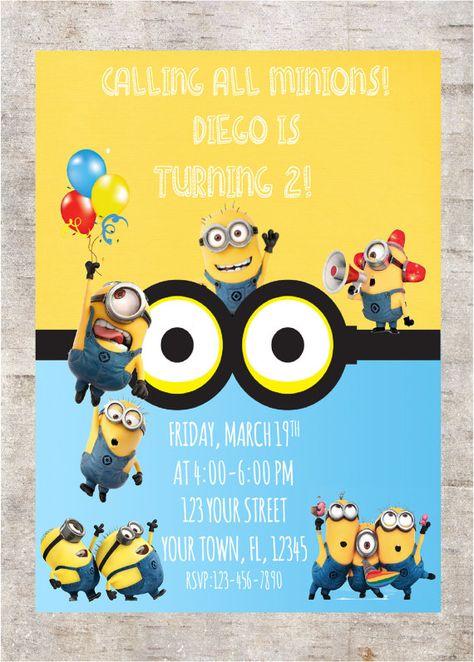 24 minion birthday invitations ideas