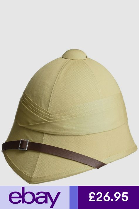 563ed0bcaf9ad Details about British Army Tropical Pith Helmet - Repro Explorer ...