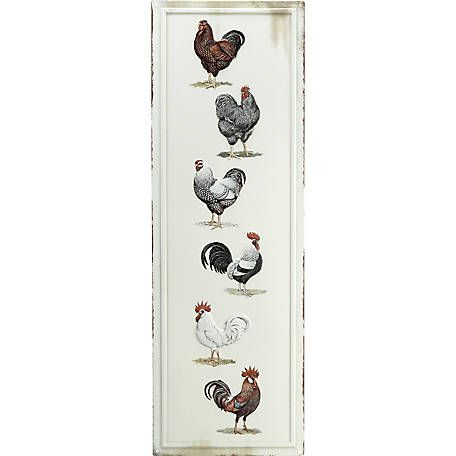 Embossed Tin Rooster Sign At Tractor Supply Co Cute Metal Tin And Wooden Signs For The Country Home Tractor Supplies Chickens Backyard Rooster
