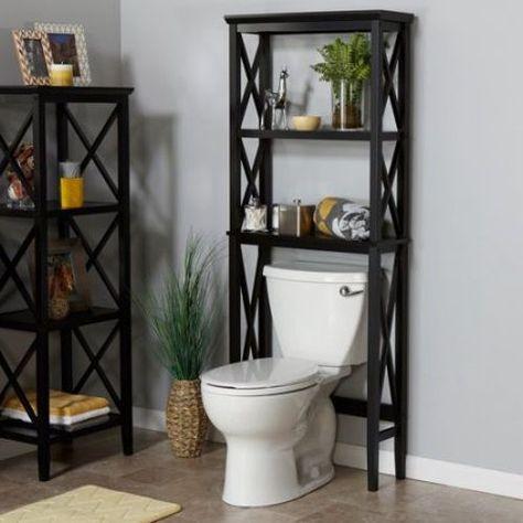 Bathroom Space Saver Wood Storage Furniture Over Toilet Organizer Towel Shelf Home Garden Bath Shelves Ebay Bathroom Cabinets Over Toilet Over Toilet Toilet Storage