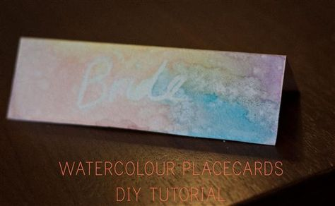 Watercolour Placecards DIY