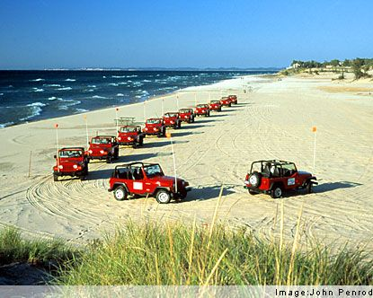 Silver Lake Sand Dunes there are pkgs for jeep rental and lodging--I want to do this with kids!! Also, camping ;-)