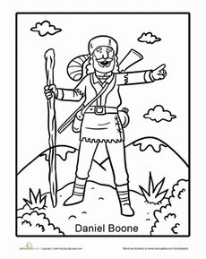 Tall Tales Daniel Boone Tall Tales Coloring Pages Preschool