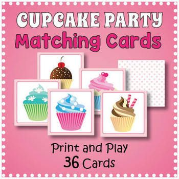 Cupcake Matching Memory Game Fun Games For Adults Educational