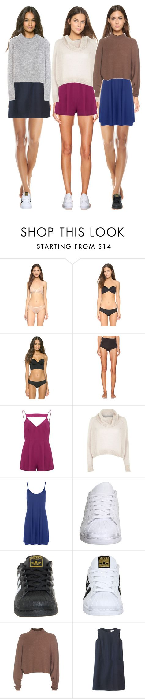 """""""Untitled #431"""" by makeupbylibby ❤ liked on Polyvore featuring Natori, Cosabella, SPANX, Finders Keepers, River Island, WearAll, adidas, Acne Studios, Toast and Wood Wood"""