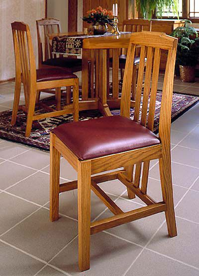 Arts And Crafts Dining Chairs Mission Style Woodworking Plan