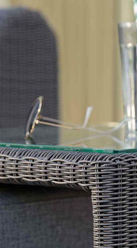 Stern Butler Beistelltisch 45x45cm Geflecht Mit Glasplatte Gartenmobel Grau Gartenmobel Und Gartenstuhle
