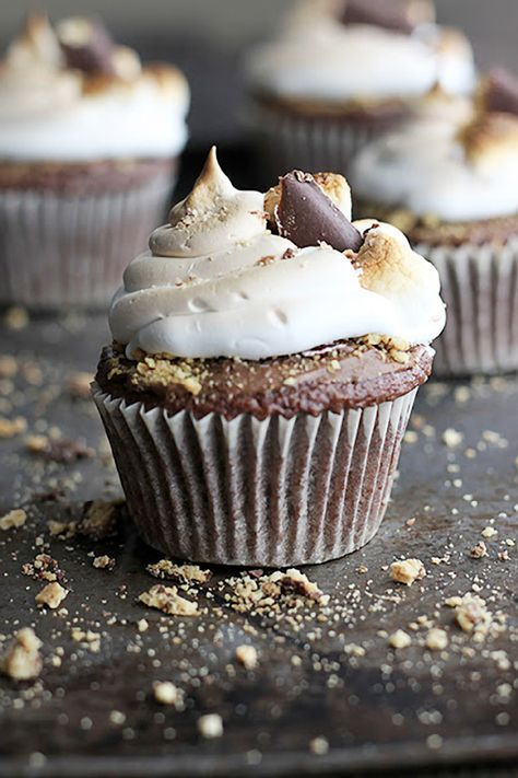 Deluxe S'mores Cupcakes Recipe