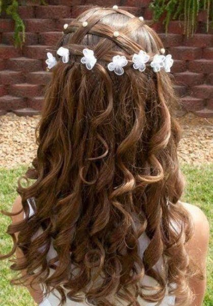 Lovely Kommunion Frisuren 2019 Vintage Wedding Hair Wavy Wedding Hair Flower Girl Hairstyles