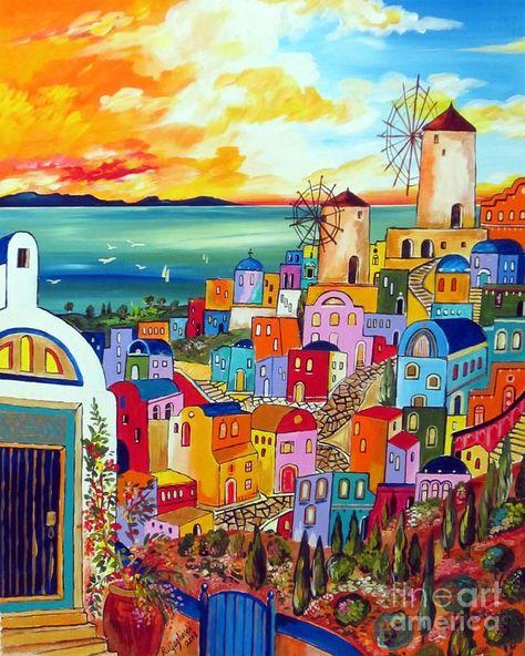 Wind mills in Greece by Roberto Gagliardi