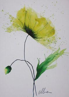 Image Peinture Fleurs De 塚本由美 Du Tableau 壁紙 Aquarelle