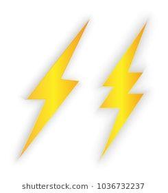 Lighting Bolt Vector Isolated Graphic Design Logo Vector Bolt
