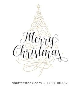 Similar Images Stock Photos Vectors Of Vector Illustration Of Merry Christmas Lettering Merry Christmas Typography Christmas Typography Christmas Lettering