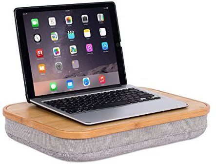 Amazon Com Birdrock Home Bamboo Lap Desk With Laptop Storage
