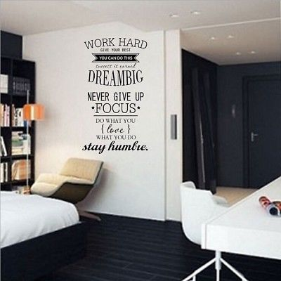 Wall Decals Work Hard Dream Big Quotes Wall Stickers For Office Study Room Np2z Fashion H Wall Decals For Bedroom Office Room Decor Wall Stickers Living Room