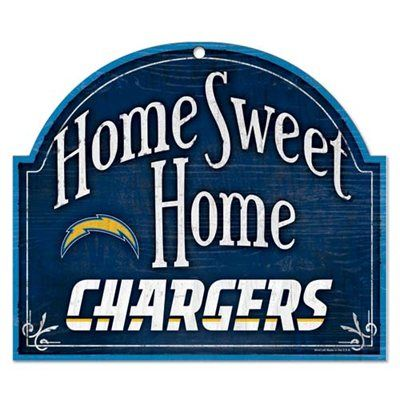 San Diego Chargers 11'' x 9'' Home Sweet Home Sign