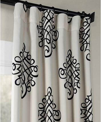 Exclusive Fabrics Furnishings Tugra Blackout 50 X 108 Curtain