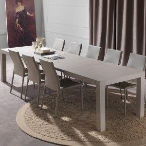Fusion Modern Extensible Table In Dove Gray Color Fusion Tavolo Moderno In Legno Allungabile Color Tortora Chiaro Fusion Modern Table Table Dining Table