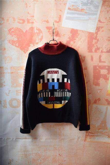 The TV Mock Wool Sweater — Kina & Tam   Warm sweaters winter