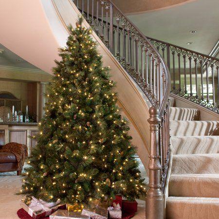 National Tree Carolina Pine Tree Size 6 Ft Walmart Com Pre Lit Christmas Tree Fake Christmas Trees Cool Christmas Trees