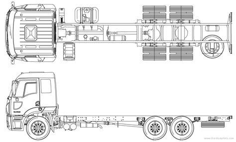 1962 Mercedes-Benz L2623 Truck blueprint