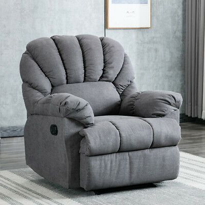 Advertisement Oversized Manual Recliner Chair Living Room Breathable Sofa Seat Home Theater Manual Recliner Chair Recliner Chair Comfortable Chair