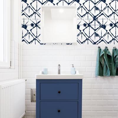 Interstellar Peel Stick Wallpaper In 2021 Peel And Stick Wallpaper Small Bathroom Wallpaper Katie Kime