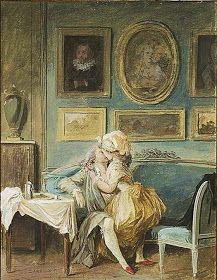 'Dinner for Two' by Nicolas Lafrenson. Isis' Wardrobe: Soon to come- the 18th century erotic calendar