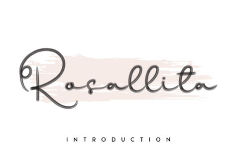 Rosallita (Font) by andikastudio · Creative Fabrica