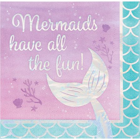 Party Supplies Mermaid Shine Luncheon Napkins Napkins  fnt