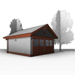 Craftsman 20 X20 Detached Two Car Garage Plans Ready To Download Garage Plans Garage Blueprints Garage Floor Plans