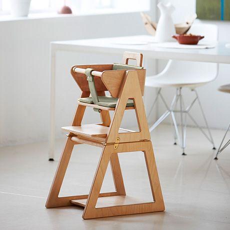 Convertible High Chair Green Hindevadgaard Firm Of Architects Mobilya Ahsap Isi Projeler Ahsap Isleri