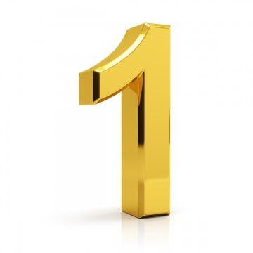 الذهب رقم 1 واحد 1 رقم Png وملف Psd للتحميل مجانا Desain