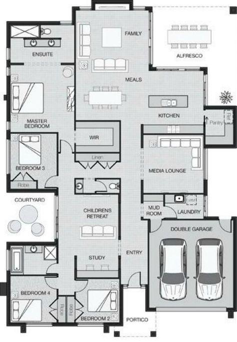 Big Is Beautiful New House Plans Australian House Plans Floor Plans