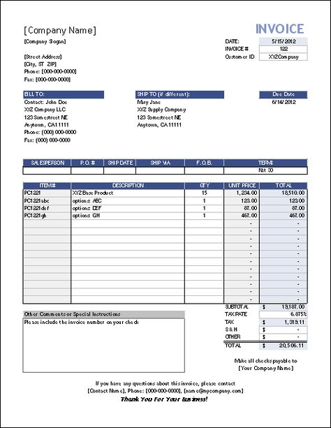 Template #3 Sales Invoice sales book Pinterest Template - shipping invoice template