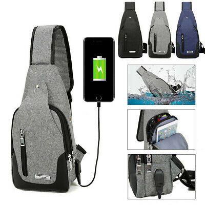 "USB Charge Fit 11/""~12/"" Laptop Notebook Backpack Chest Travel Shoulder Bag School"