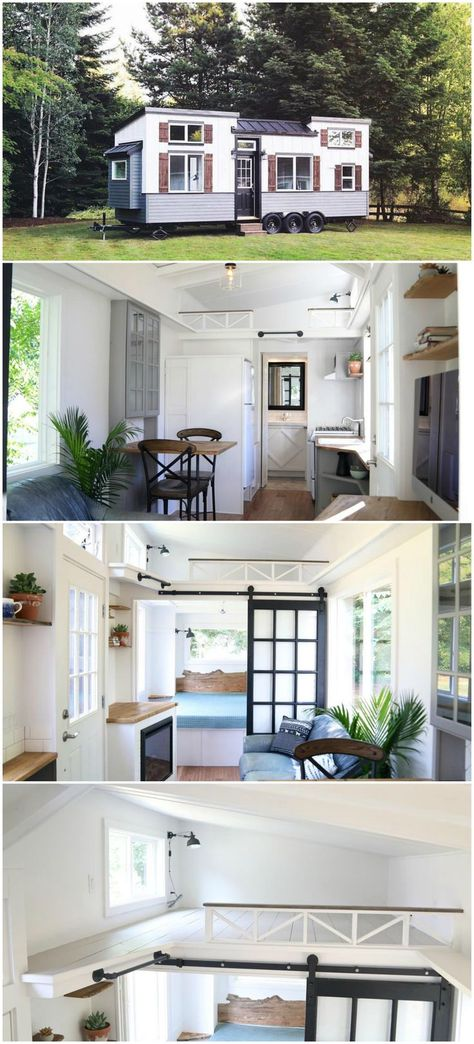 The 28 Tiny House Was Built On A Three Axle Pad Tiny House Trailer With Built In Leveling Jacks And Sealed Aluminum F Small Tiny House Tiny House Nation House