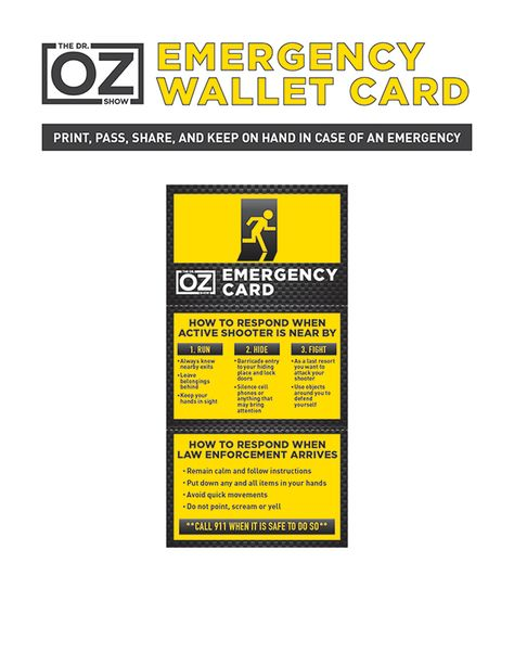 Your Step Emergency Action Plan  The Dr Oz Show  Tips  Ideas