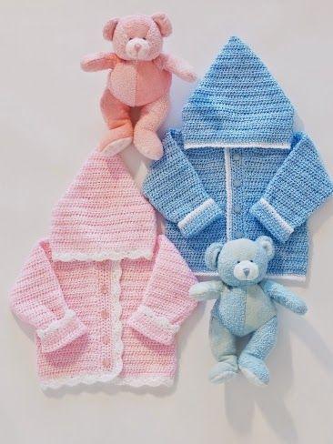جاكيت كروشية للأطفال مع الشرح باللغة الانجليزية Crocheted Jaket For Kids
