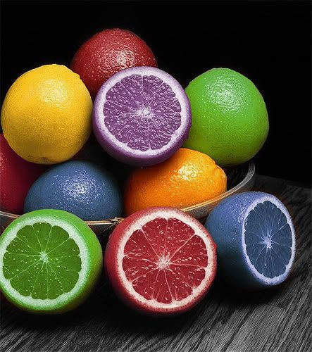 inject food coloring in lemons and they completely change colour ...