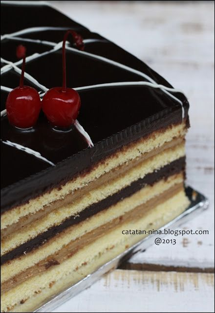 Opera Cake Without Jaconde Catatan Nina Kue Kue Opera Makanan