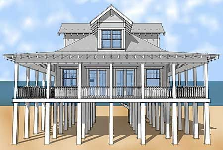 Florida Homes On Stilts 15 Best Decoration Ideas Page 2 Of 5 Florida Luxury Waterfront Condo Beach House Plans Coastal House Plans Beach House Floor Plans