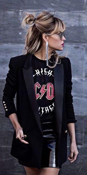 Rocker chic inspiro de la mode pour l'automne et l'hiver, skirt courte cuir en jean longue fashion indian outfits outfits summer style