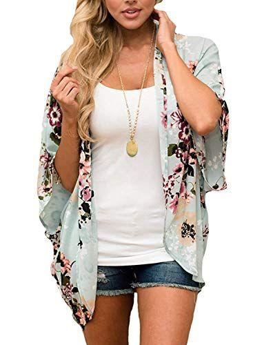 Women Long Sleeves Sheer Chiffon Cardigan Beach Shawl Open Front Jacket Tops
