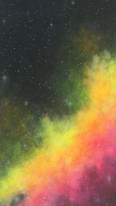 Watercolor Nebula using Neons