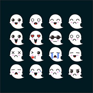 Ghost Emoticon Set Clipart Ghost Ghost Icons Icon Png And Vector With Transparent Background For Free Download Clip Art Cartoon Clouds Background Banner