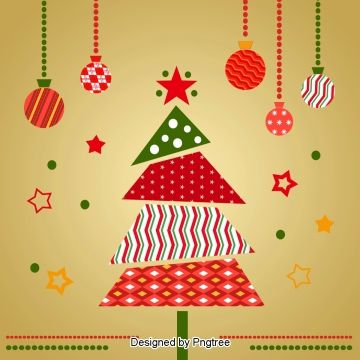 Sewing Cartoon Christmas Tree Christmas Vectors Origami Christmas Tree