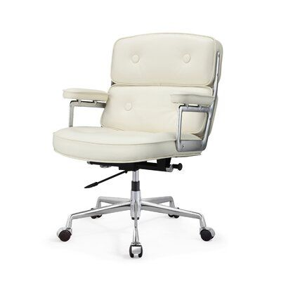 Genuine Leather Executive Chair Upholstery Color White In 2020 Executive Chair Chair Leather