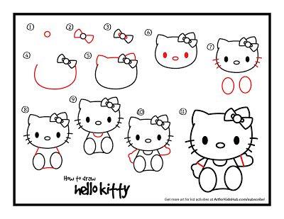 Actividades Para Educacion Infantil Aprender A Dibujar Con Art For Kids Hub Dibujos De Hello Kitty Arte De Hello Kitty Dibujos Para Ninos