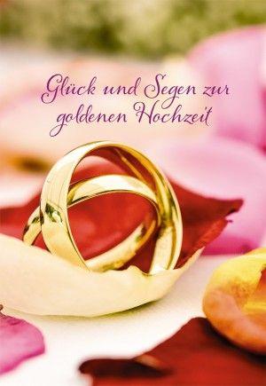 Glückwunschkarte Glück Und Segen Zur Goldenen Hochzeit